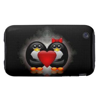 Cute Penguins Tough iPhone 3 Case