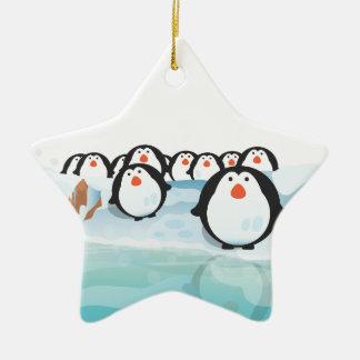 Cute Penguins Christmas Ornament