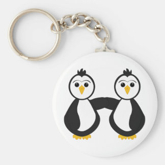 Cute Penguins Holding Hands Keychain