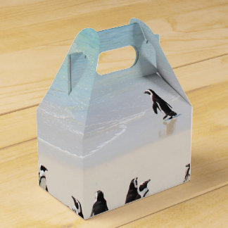 Cute Penguins On Island Holiday Exotic Unusual Favour Box