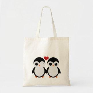 Cute penguins tote bag