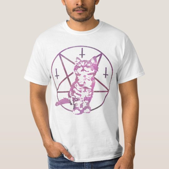 Cute Pentagram & Kitten T-Shirt