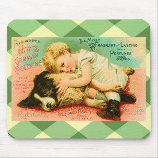 Cute Perfume Vintage Advertisement Mouse Pad