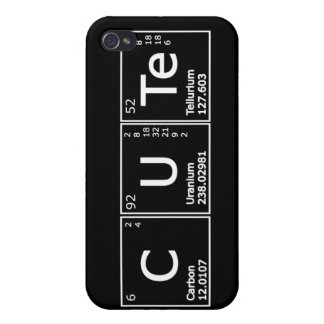 Cute  Periodic Elements Girly Nerd Chemistry iPhon Cases For iPhone 4