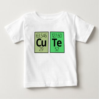 Cute Periodic Table Element Symbols Baby T-Shirt