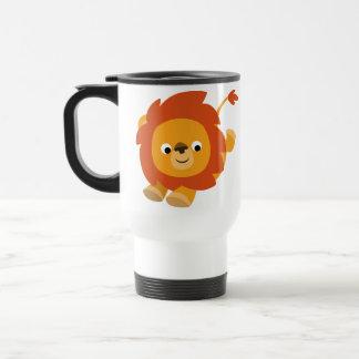 Cute Perky Cartoon Lion Commuter Mug