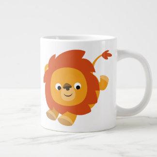 Cute Perky Cartoon Lion Large Coffee Mug