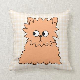 Cute Persian Cat. Ginger Orange. Cushion