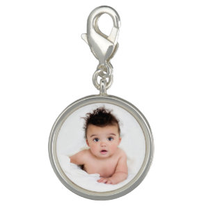 Cute Personalised Baby Photo Charm
