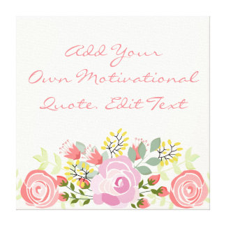 Cute personalised floral canvas print