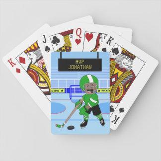 Cute Personalised Ice Hockey star Poker Deck