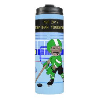 Cute Personalised Ice Hockey star Thermal Tumbler