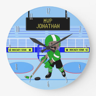 Cute Personalised Ice Hockey star Wallclocks