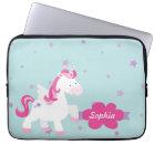Cute Personalised Magical Unicorn Laptop Sleeve