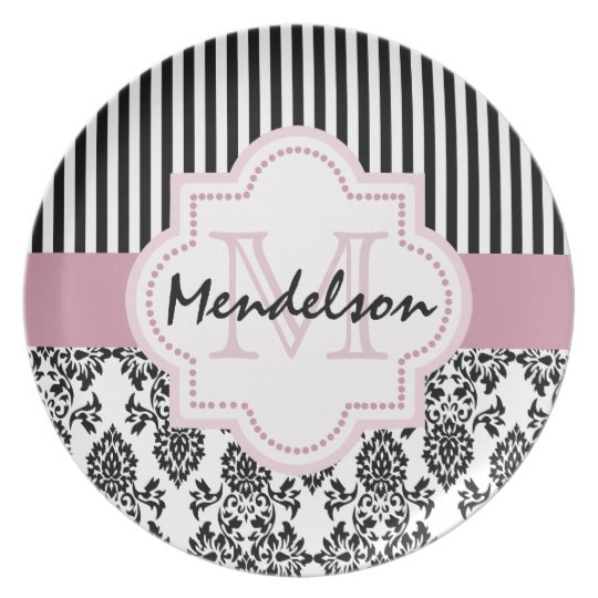 Cute personalised monogram plate