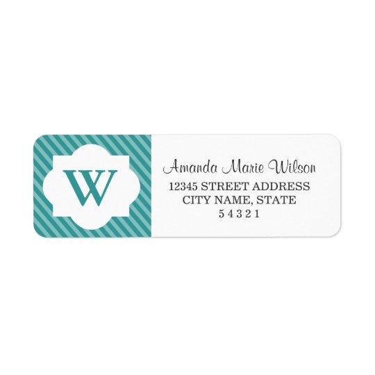 Cute Personalised Monogram Return Address Labels