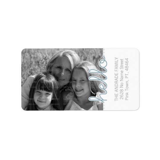 Cute Personalised Photo Address Labels | Hello