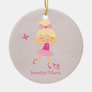 Cute personalized bonde hair ballerina ornament