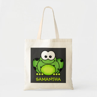 Cute Personalized Cartoon Frog Bag Budget Tote Bag