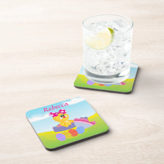 Cute Personalized Easter chic Coasters