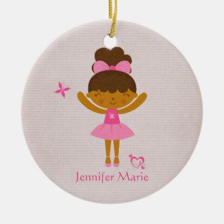 Cute personalized ethnic ballerina ornament