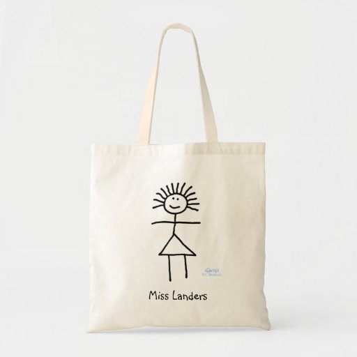 Cute Personalized Funny Cartoon Teacher's Book Bag Bag