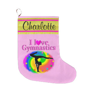 CUTE PERSONALIZED GYMNAST CHRISTMAS STOCKING