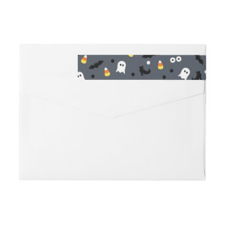 Cute Personalized Halloween Return Address Labels Wraparound Return Address Label
