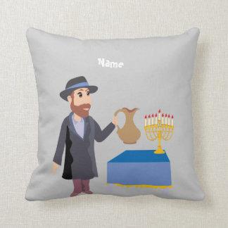 Cute Personalized Hanukkah Cushion