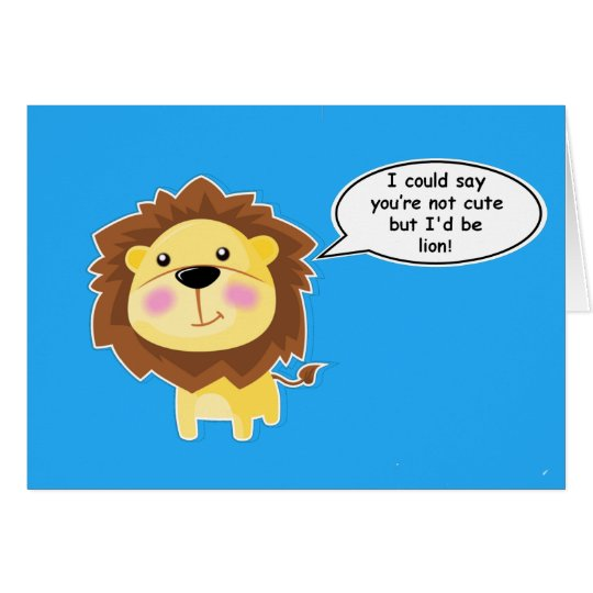 Cute Personalized Lion anniversary/ birthday Card
