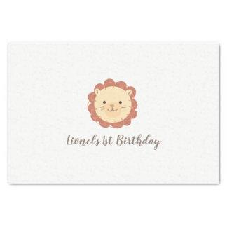 Cute Personalized Little Lion Tissue Paper