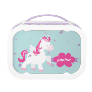 Cute Personalized Magical Unicorn Lunchbox