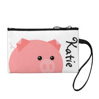 Cute Personalized Pig Clutch Change Purses