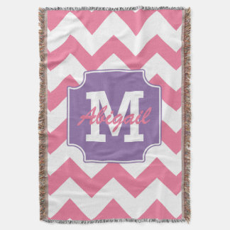 Cute Personalized Pink and Purple Chevron Print