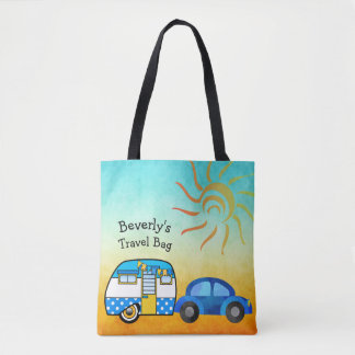 Cute Personalized Road Trip Travel Tote