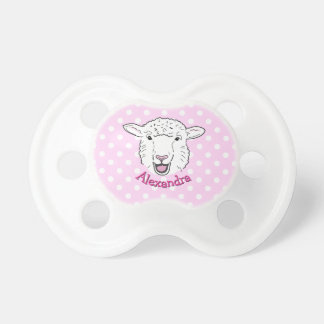 Cute Personalized Smiling Sheep Face Illustration Dummy