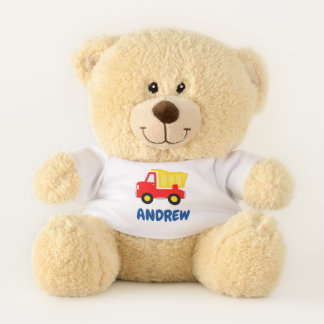 Cute personalized teddy bear for new baby boy