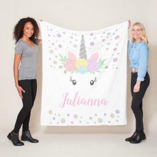 Cute Personalized Unicorn Blanket