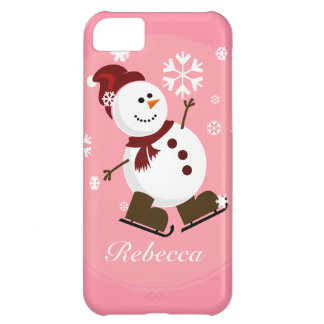 Cute Personalized Xmas Snowman iPhone 5C Case