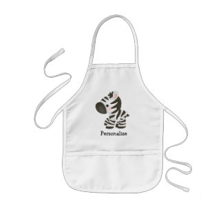 Cute Personalized Zebra Apron