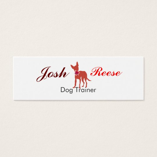 Cute Pet Chihuahua Watercolor Puppy Pug Mini Business Card