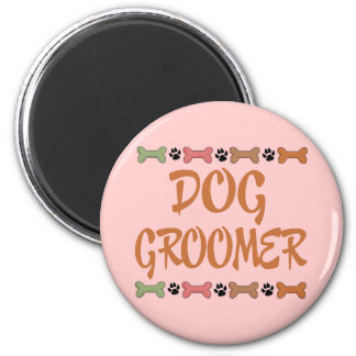 Cute Pet Occupation Dog Groomer Magnet