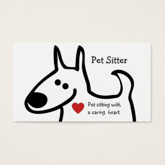 Cute Pet Sitter Business Card Template