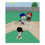 Cute Photo face template baseball players Posters
