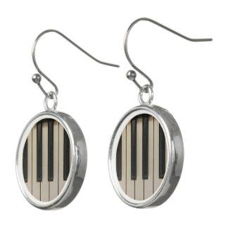 Cute Piano Keys Picture Design Earrings