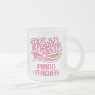 Cute Piano Teacher Gift Frosted Glass Coffee Mug