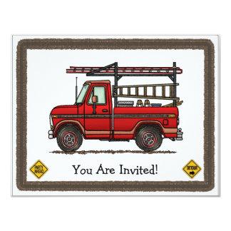 "Cute Pickup Truck 4.25"" X 5.5"" Invitation Card"