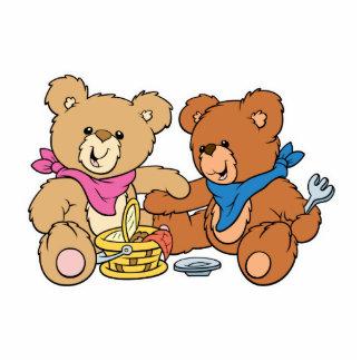 Cute Picnic Bears Photo Cut Outs