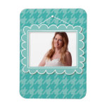 Cute picture frame with houndstooth pattern flexible magnets