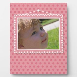 Cute picture frame with polkadots